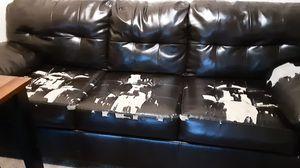 Leather sofa three seater for Sale in Richmond, VA