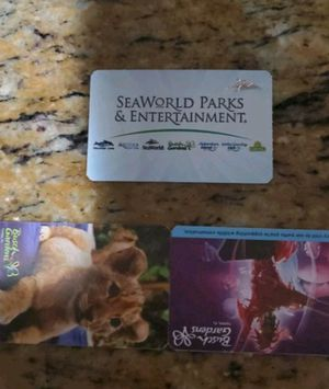 2 adult Busch Gardens tickets & 1 parking pass for Sale in Fort Myers, FL