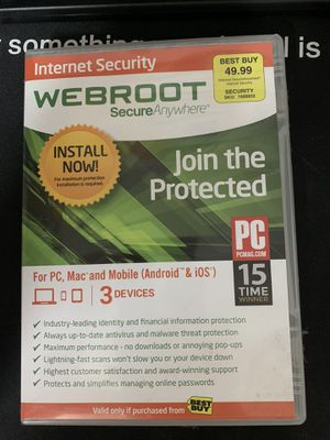 Webroot Security Antivirus for Sale in San Diego, CA