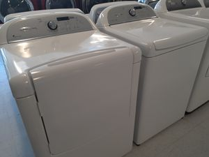 Whirlpool tap load washer and electric dryer set in good condition with 90 day's warranty for Sale in Mount Rainier, MD