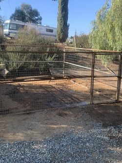 12 x 12 with enough to make a 12 x 24 x 5' tall goat pen dog pen or whatever you want old but sturdy for Sale in Lake Elsinore,  CA