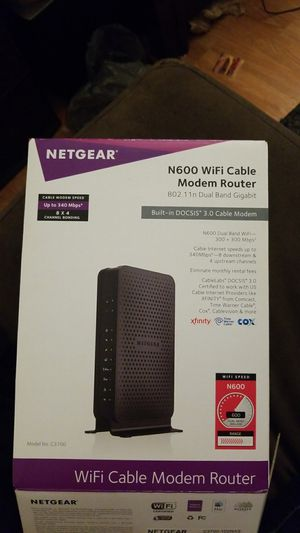 N600 Wifi Cable Modem Router for Sale in New Baltimore, MI