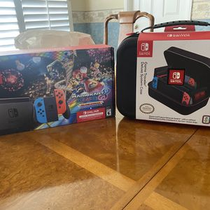 Brand New Nintendo Switch Mariokart Bundle With Deluxe Case for Sale in Riverside, CA