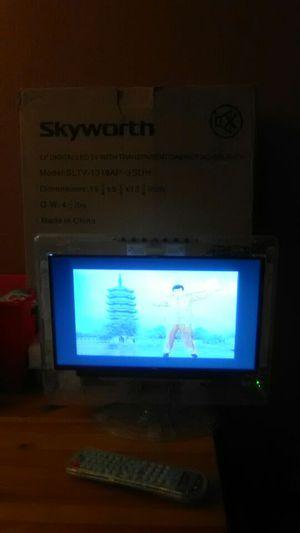 """Skyworth 13"""" inch digital led t.v transparent cabinet for Sale in Portland, OR"""