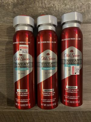 Old spice sweat defense pure sport plus dryspray $3.50 each for Sale in Arrowhead Farms, CA
