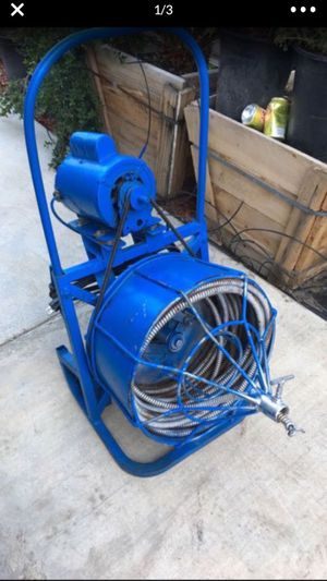 """Plumbing snake drain cleaner 3/4"""" 60ft for Sale in Highland, CA"""