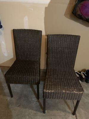 Set of wicker chairs for Sale in Tacoma, WA