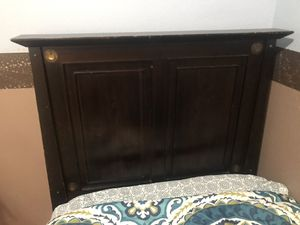 Twin bed headboard and metal frame for Sale in Westminster, CO