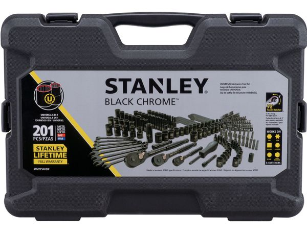 Stanley 201 piece socket set