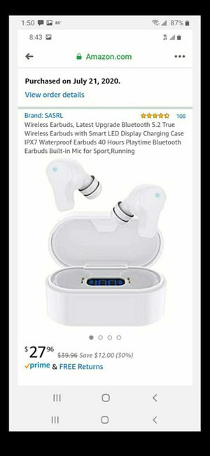 Wireless earbuds with LED charging case for Sale in Modesto, CA