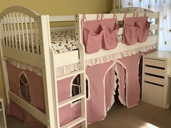 White Twin Loft Bed for Sale in Chandler,  AZ