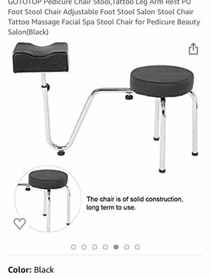 Pedicure Chair Stool- (New) Leather seat for Sale in Huntington Park, CA