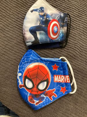 Facemask Bundle for kids $12 for both for Sale in Miami, FL