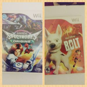 2 Nintendo Wii Games Spectrobes & Bolt for Sale in Clearwater, FL