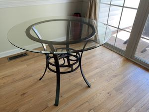 Glass Top dining room table for Sale in Charlottesville, VA