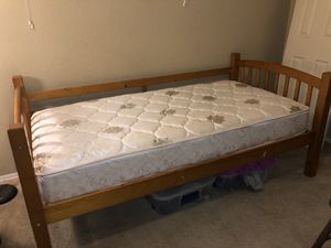 Sturdy hard wood twin bed frame for Sale in Tucson, AZ