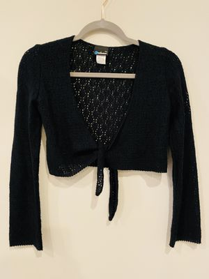 Black crochet shawl crop coverup top for Sale in Silver Spring, MD