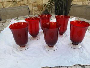 New! Reduced! Six Lenox Holiday Gems Ruby Red Crystal Goblets for Sale in Austin, TX