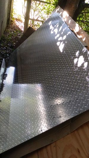 "Diamond plate sheet metal 4'X8'X3/16"" for Sale in Moneta, VA"