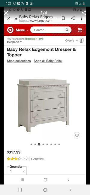 Baby dresser/changing table for Sale in Bloomington, CA