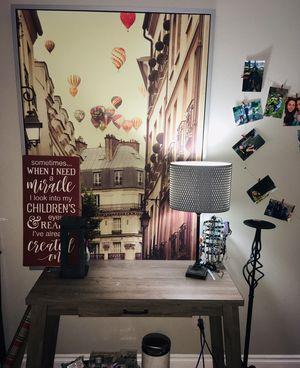 Picture/desk/lamp/decor for Sale in Edgewood, WA