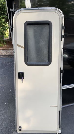 Rv camper 5th wheel door with screen door, keys for Sale in Mill Creek, WA
