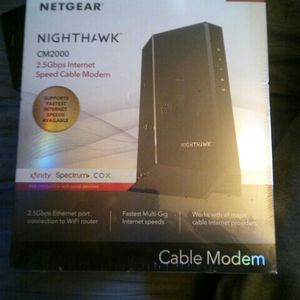 Netgear Nighthawk CM2000 2.5Gbps Cable Modem Brand New DOCSIS 3.1 for Sale in Modesto, CA