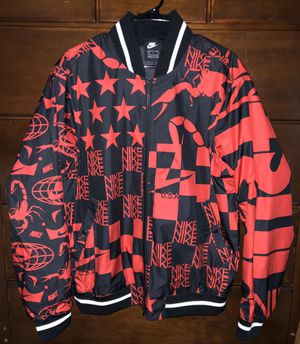 NIKE NSW BLACK/RED BOMBER JACKET SIZE L NWT for Sale in Gainesville, VA
