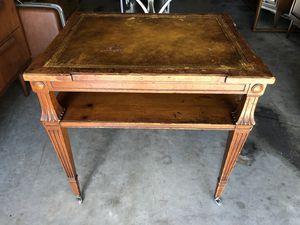 Antique End/Side Table With Original Roller Wheels . for Sale in Punta Gorda, FL