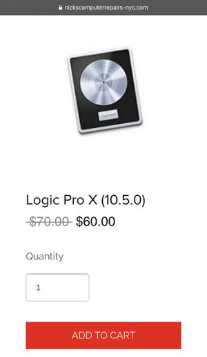 Logic Pro X (10.5.0) for Sale in New York, NY