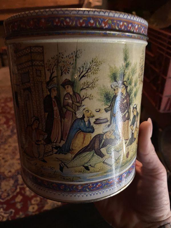 Vintage Hindu Coffee Can