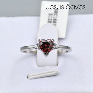 S925 Red Heart CZ Ring SRC-16679 Size 5/6/7/8/9 for Sale in Fresno, CA