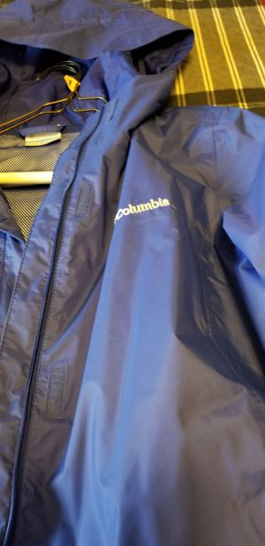 Blue Columbia large raincoat one owner 35.00 Purple and blue Columbia large fleece jacket one owner 35.00 or both for 60.00 for Sale in Hyattsville, MD