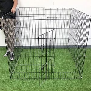 "$45 (new in box) dog 8-panel playpen, each panel 42"" tall x 24"" wide metal pet gate exercise fence crate kennel for Sale in Whittier, CA"
