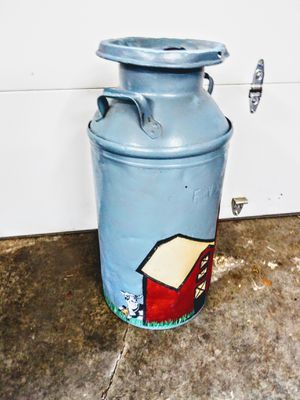 Hand painted milk canister for Sale in Lake Forest Park, WA
