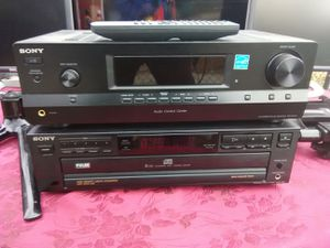 300 watts Sony receiver with remote control and 5 discs CD player $150 for Sale in Washington, DC