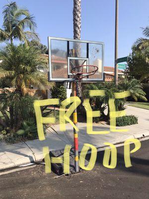 FREE basketball hoop for Sale in Del Mar, CA