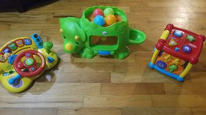 Interactive kids baby toddler toys x3 vtech and fisher price. for Sale in Tacoma, WA