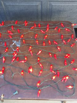 3 Sets Of Chili Pepper Christmas Lights For 1 Price (2 Sets Of 35 & 1 Set Of 10) for Sale in Riverside,  CA