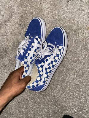 old school blue and white checker board vans (size 11) for Sale in Upper Marlboro, MD