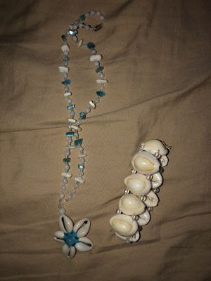 Shell necklace and bracelet for Sale in Stockton, CA