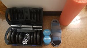 Exercise Equipment Dumbbells, Leg weights, Foam Roller for Sale in Columbus, OH