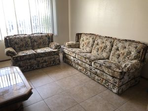Couch and love seat $150 for Sale in Modesto, CA