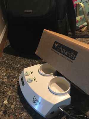 Ameda breast pump with accessories and extra 2nd pump for Sale in Providence Forge, VA