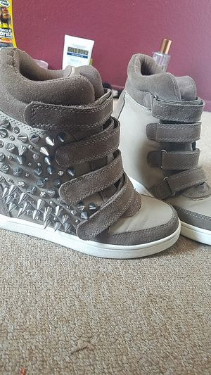 Aldo wedge strap on sneakers with spikes on the side for Sale in Poway, CA