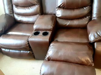 Leather Loveseat Recliner for Sale in St. Louis,  MO
