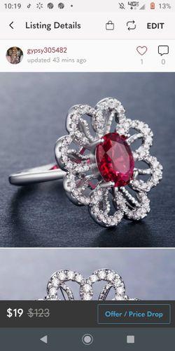Silver Garnet Ring size 10 for Sale in Wichita,  KS