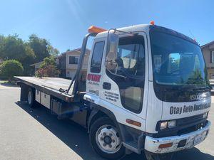 2004 Isuzu FRR- Flatbed Tow Truck!! 148k miles for Sale in San Diego, CA