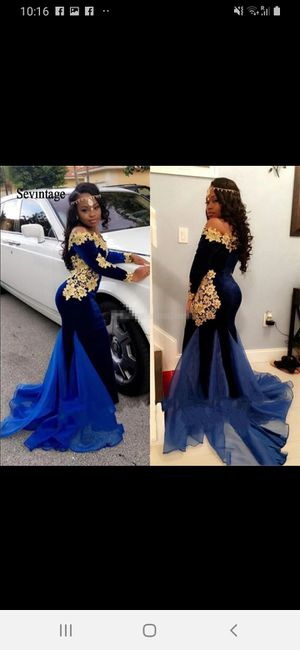 Blue mermaid dress for Sale in Houston, TX