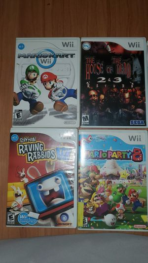Wii games (Mario party and Mario Kart) for Sale in Phoenix, AZ